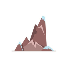 cliff with ledges icon in flat style vector image vector image