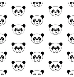 Cute panda pattern vector