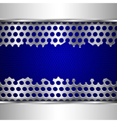 damaged perforated metal plate vector image vector image