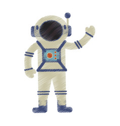 Drawing astronaut spacesuit helmet antenna vector