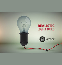 electric lamp bulb background vector image vector image