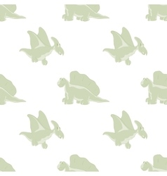 Funny dinosaurs on a white background vector