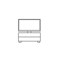Furniture tv cabinet outline icon isolated sign vector
