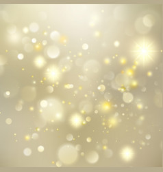gold new year abstract glitter defocused vector image