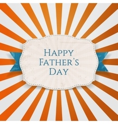 Happy Fathers Day festive Tag with blue Type vector image
