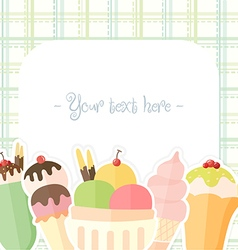 Ice cream colorful background vector image