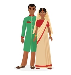 Indian family indian man and woman couple in vector
