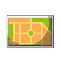 map navigation web application destination vector image