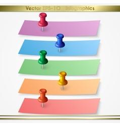 Modern paper sheet sticker infographics elements vector