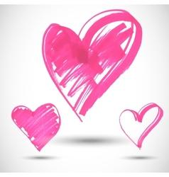 Pink big heart shape vector image vector image