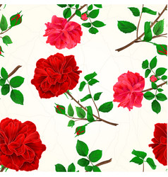 seamless texture red roses cracks in the porcelain vector image