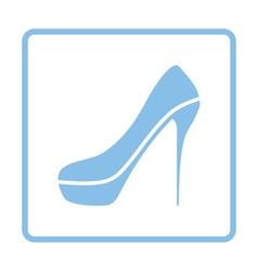 Sexy high heel shoe icon vector