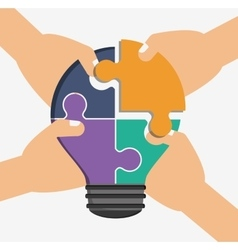 Teamwork and puzzle design vector image vector image