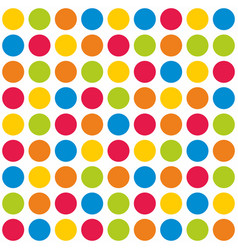 Tile colorful polka dots pattern on white vector