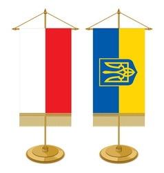 Zastavice na stolu Ukra Pola resize vector image vector image