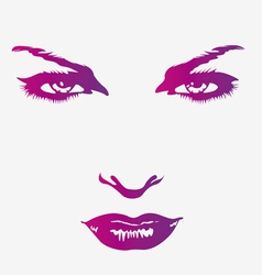 Beautiful womans face vector