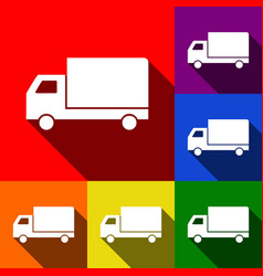 Delivery sign   set of icons vector