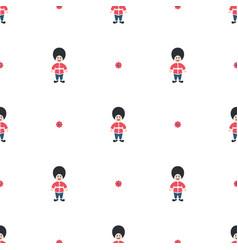 Queen guard cute seamless pattern vector