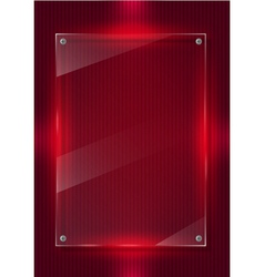 Red digital background and glass panels vector