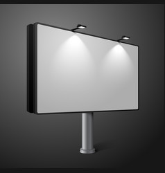 city billboard with lamps isolated on dark vector image