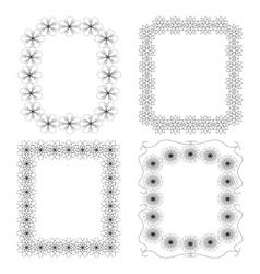 4 black geometric frames vector