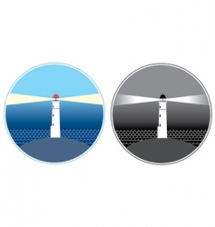 Sea lighthouse symbols vector