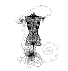 Dress mannequin vector