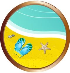 tropical beach scene vector image