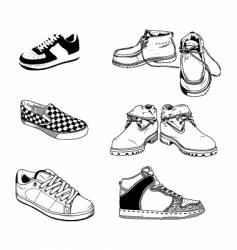 Casual men shoes vector