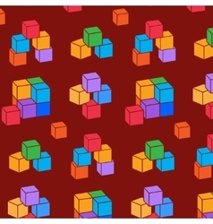 Seamless pattern with cubes perspective view vector