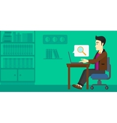 Man working in office vector