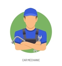 Car mechanic concept vector