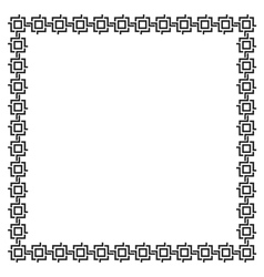 Simple geometric ethnic frame variation 5 vector image