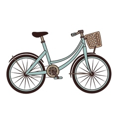 Vintage bike transport icon vector