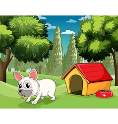 A doghouse at the park vector