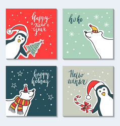 A greeting card happy new vector