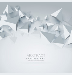 Abstract 3d triangle shapes background vector