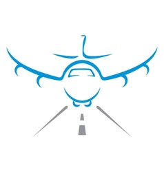 Aircraft symbol vector image