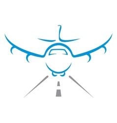 Aircraft symbol vector image vector image