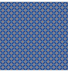 Blue and orange abstract seamless pattern vector
