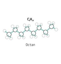C8h18 octan molecule vector