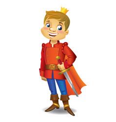 Cartoon cute prince vector