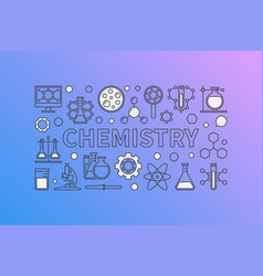 Chemistry creative background vector