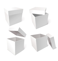 Collection of blank boxes vector