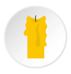 Decorative candle icon circle vector