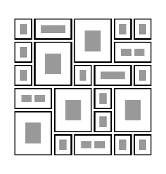 Different frames on the wall vector
