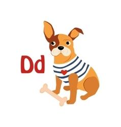 Dog funny alphabet animal vector