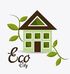 Ecocity design vector image vector image