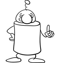 fantasy character cartoon coloring page vector image
