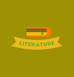 Flat icon on background literature lesson vector